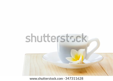 cup of coffee isolate on white...