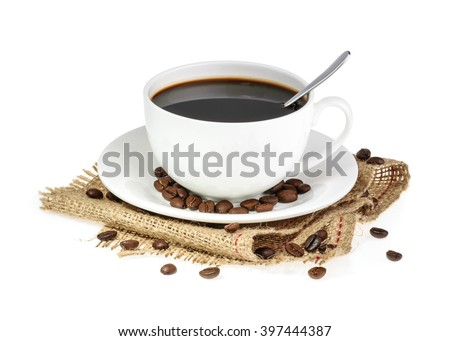 cup of coffee isolated #397444387
