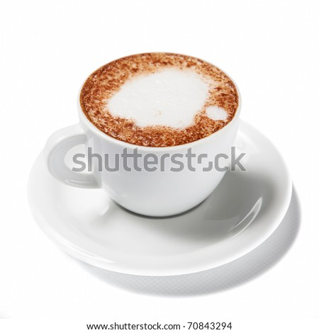 Cup of coffee isolated