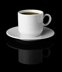Cup of Coffee isolated Black Background