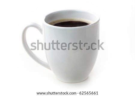 Cup of coffee isolated on white background #62565661