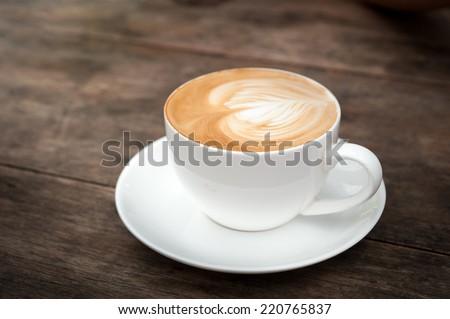 cup of coffee ,latte art heart #220765837