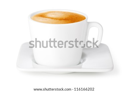 cup of coffee on a white background
