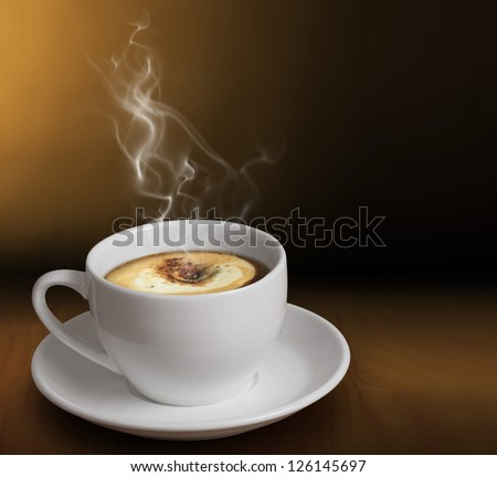 cup of coffee or hot chocolate