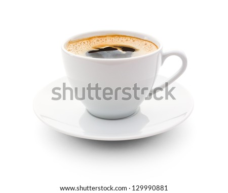 cup of coffee over white background #129990881