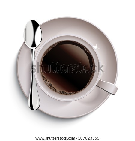 Cup of coffee. Raster version, vector file id: 106486937