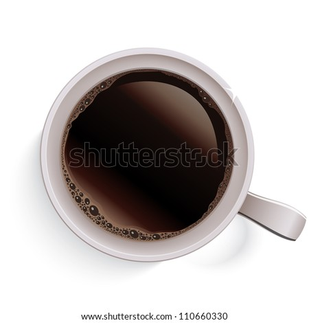 Cup of coffee. Raster version, vector file id: 110101124