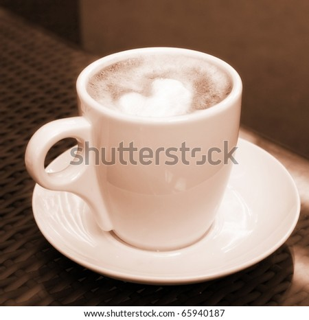 Cup of coffee - sepia