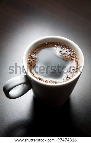 Cup of coffee, small dof