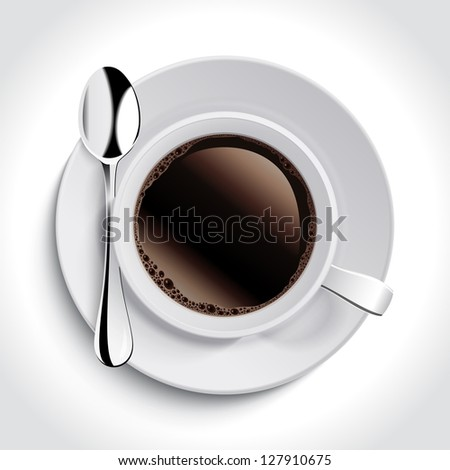 Cup of coffee. Vector version also available in gallery.