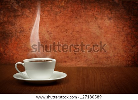 cup of coffee with copy space