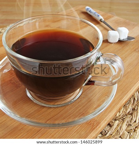 Cup of Fresh Steaming Black Coffee