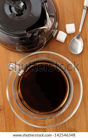 Cup of Freshly Brewed Black Coffee