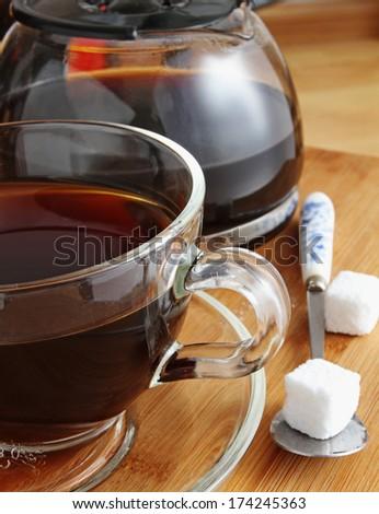 Cup of Freshly Brewed Black Coffee