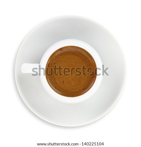 Cup of Greek - Turkish coffee isolated on white background
