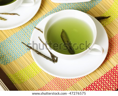 cup of green tea -- Tea Time