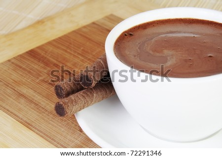 Cup of Hot Chocolate and Sweets Still Life