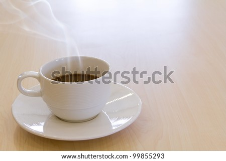 Cup of hot drink coffee