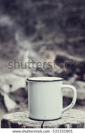 cup of hot steaming coffee...
