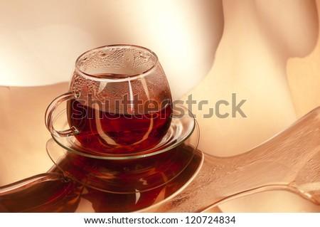 Cup of hot Tea, studio shot