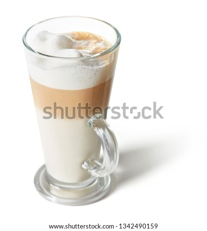 cup of latte macchiato isolated on white background #1342490159