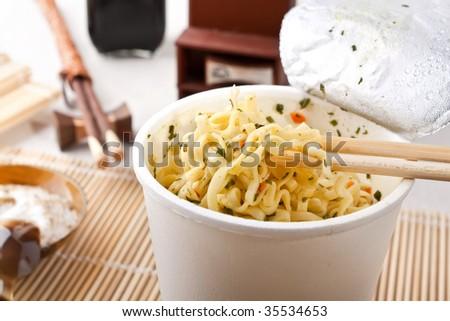 cup of ramen noodles