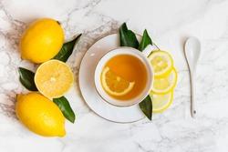 Cup of tea and lemon