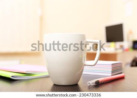 Cup of tea in office