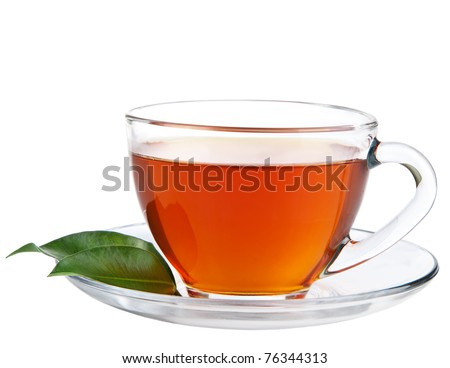 cup of tea isolated - stock photo