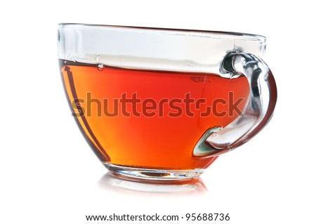 cup of tea isolated on a white background