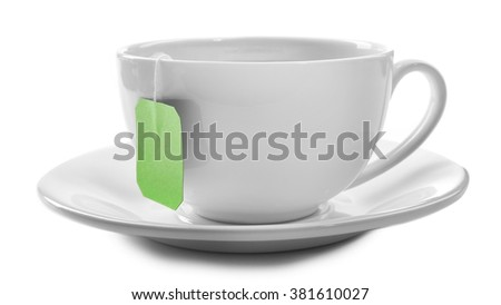 Cup of tea isolated on white background #381610027