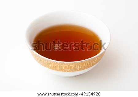 cup of tea on white