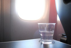 Cup Of Water In Airplane, Travel