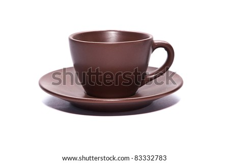cup on white backgrounds