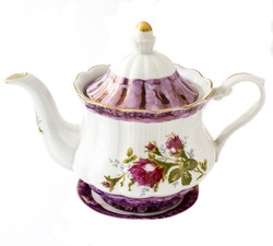 Cup, saucer, milk jug, teapot ornaments, tea set with ornament, a sugar bowl with a pattern of flower