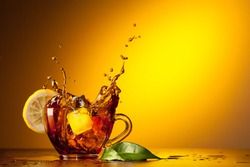 Cup tea and lemon
