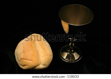 Cup with bread