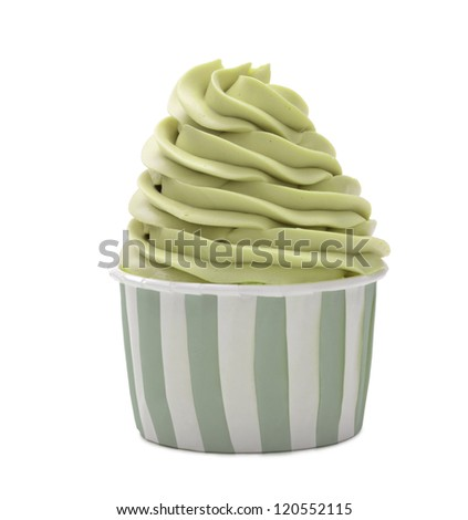 cupcake isolated on white background - stock photo