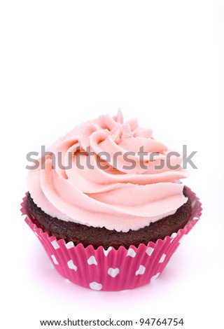 Cupcake on White