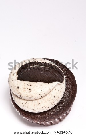 Cupcake Oreo - stock photo