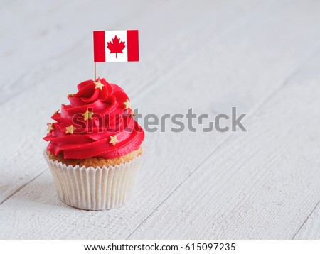 Cupcake with flag #615097235