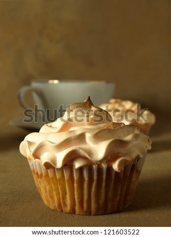 Cupcakes and teacup