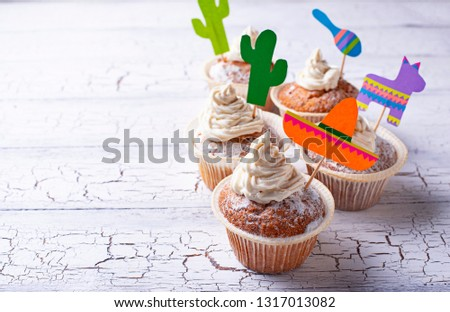 Cupcakes for celebrating Mexican fiesta or Cinco de mayo #1317013082