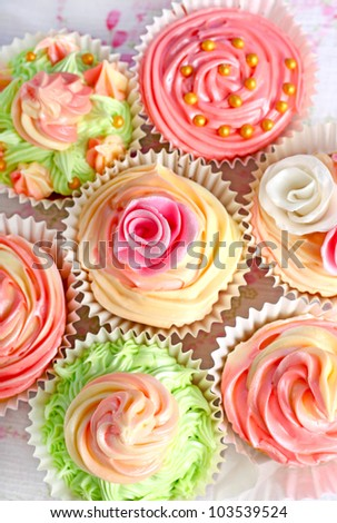 Cupcakes with icing