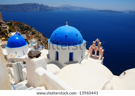 Cupolas from Santorini, Greece