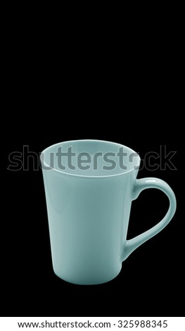 cups coffee isolated on black background #325988345