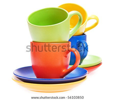 cups on white