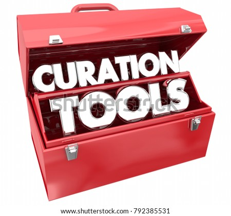 Curation Tools Resources Curate Content Toolbox 3d Illustration