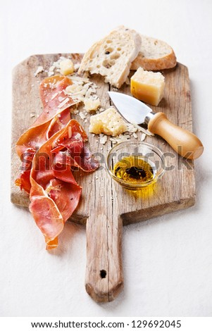 Cured Meat, Cheese and bread