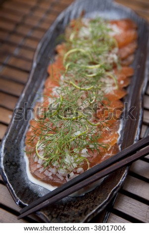 Cured Salmon With Dill & Lemon Appetizer